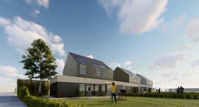 À Val-de-Reuil, trois maisons identiques, à l'exception des matériaux de construction, pour une étude